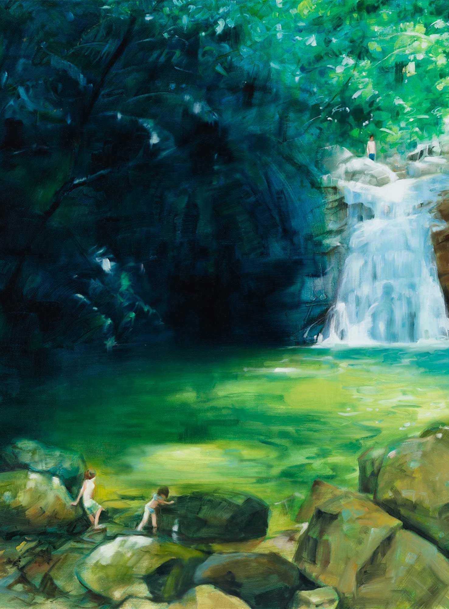Waterfall - Green (2015) by Mana Konishi